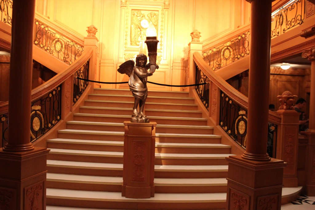 Replica of the staircase of the Titanic at the Titanic Exhibit at the Perth Convention and Exhibition Centre until March 20, 2016.