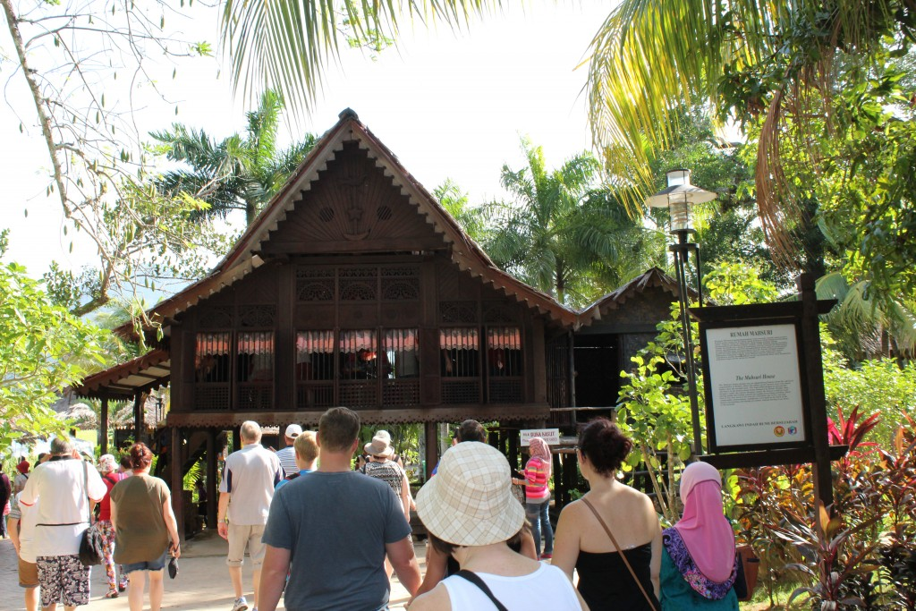 Reproduction of the native Malay house that Mahsuri lived in. These homes are on stilts because of occasional flooding.