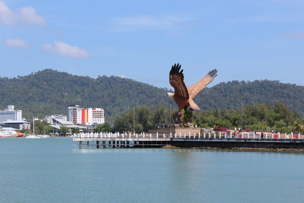 Eagle park. There are many wild eagles on and around Langkawi.
