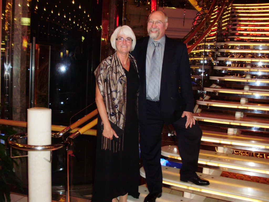 Janis and I on formal night aboard the Navigator of the Seas - April 2009