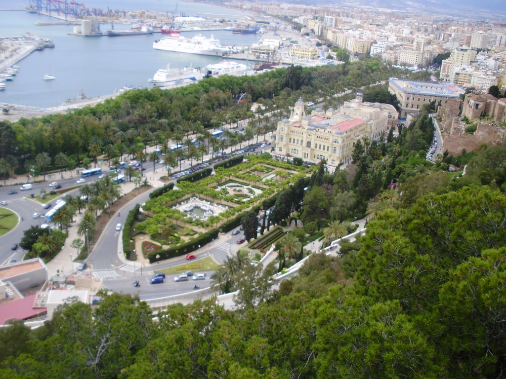 The Jardines de xxx seen from the Castillo de Gibrilfaro
