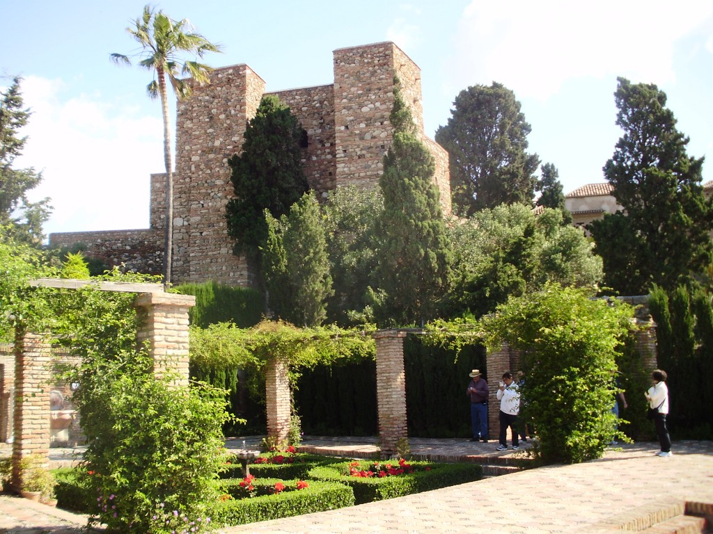 Some of the gardens inside the Alcazaba