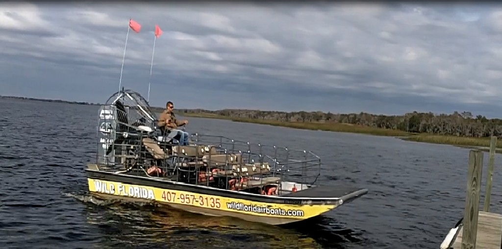3 - skipper Will and our airboat