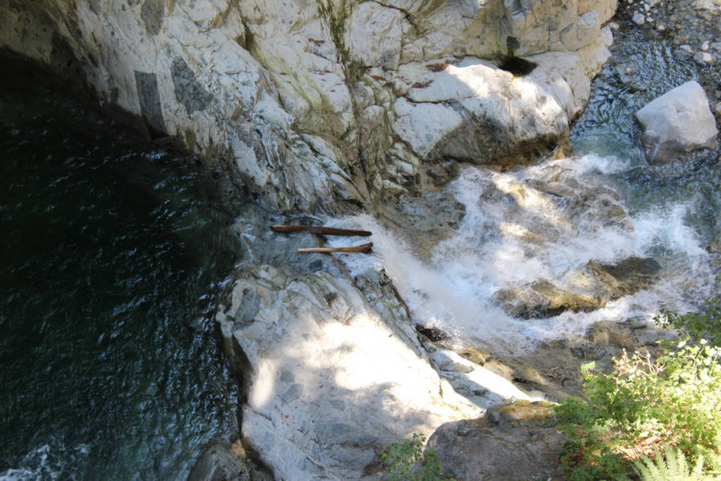 One of the downstream cascades below the main falls.