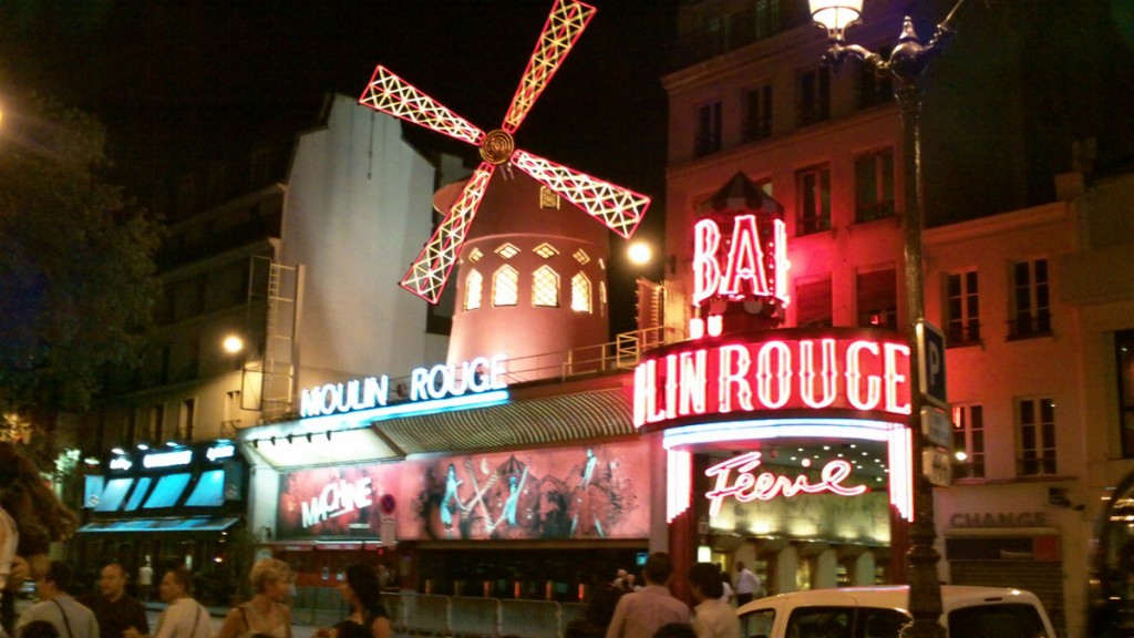 The Moulin Rouge at night