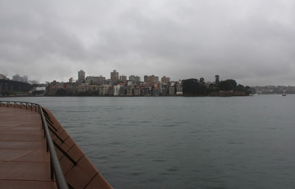 The Kirribilli district across the inlet from the opera house