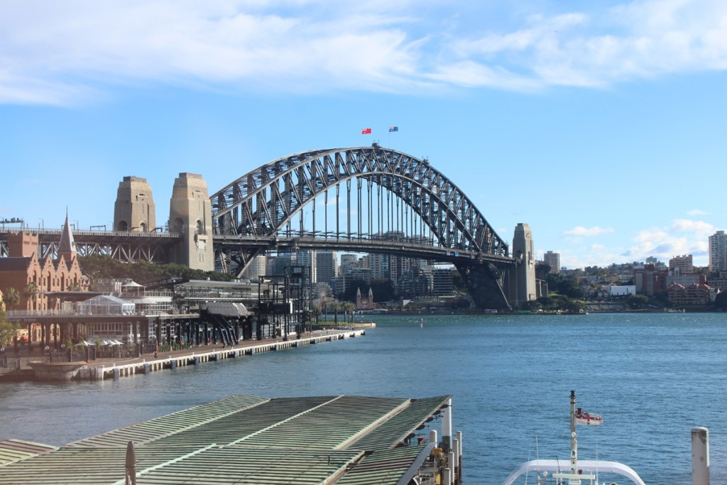 The Sydney Harbour Bridge in the sunshine