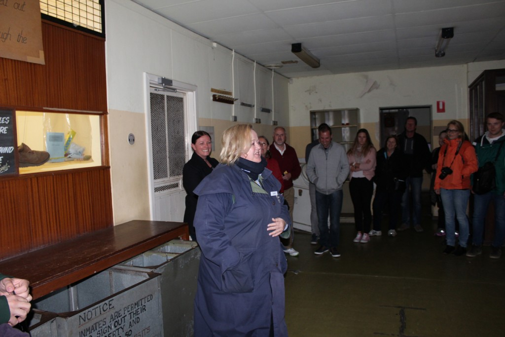 Janine gives us the lowdown before we go further into the prison.