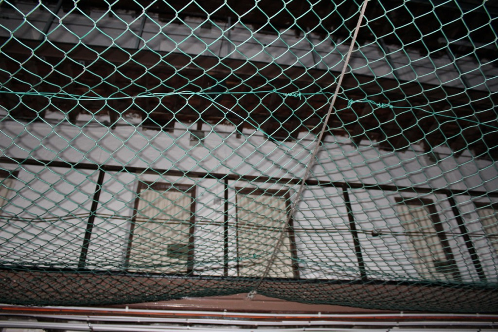 Netting prevented prisoners from killing nthemselves by jumping from the upper levels.