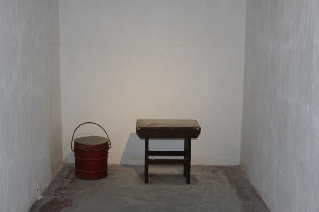 The cell where a condemned prisoner spent his last few hours.