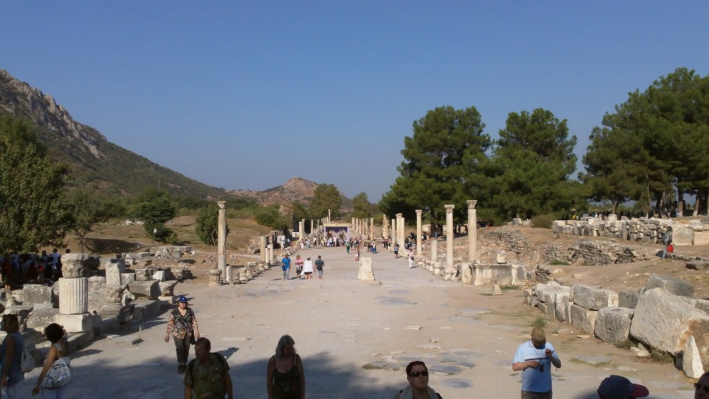 A broad boulevard from ancient Ephesus