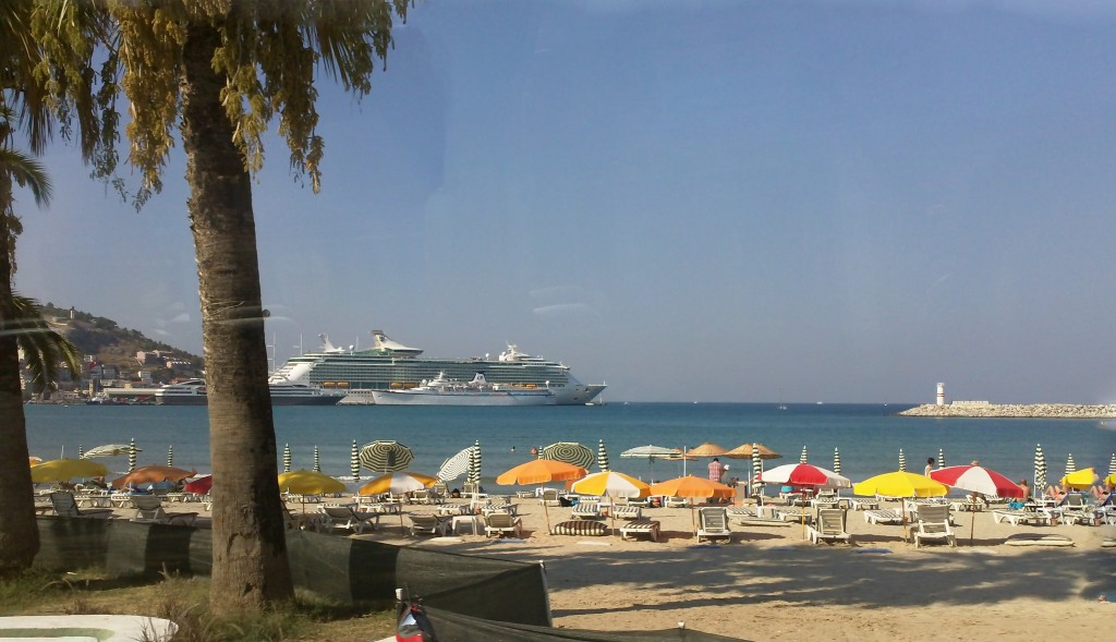 Our cruise ship in port at Kusadasi
