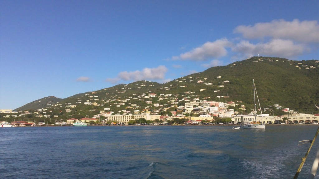 The town of St. Thomas in the U.S.Virgin Islands