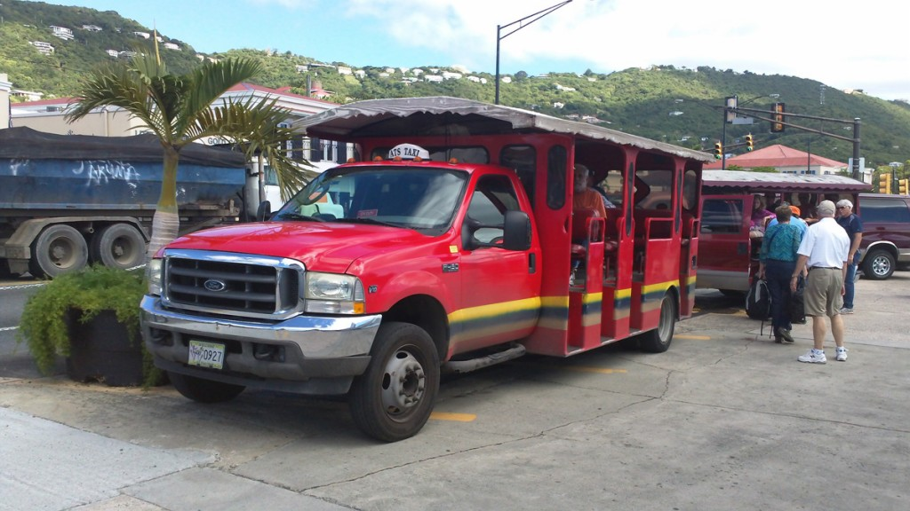 A popular mode of transportation in St. Thomas