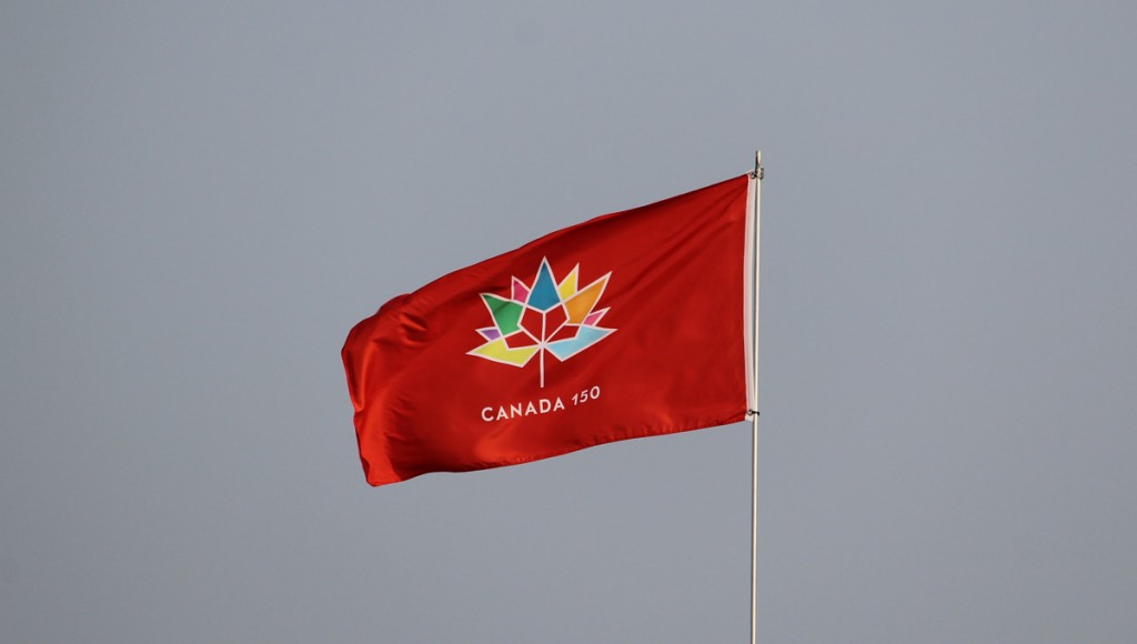 The Canada 150 flag was flying at this year's airshow