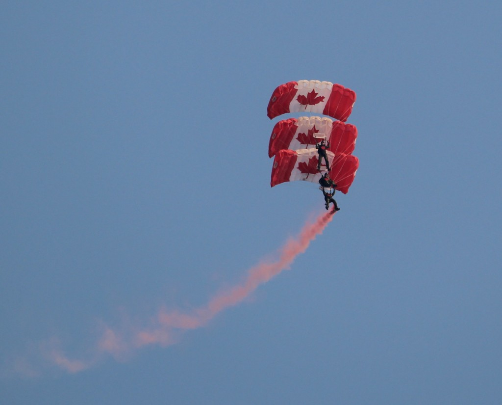 The show-opening Skyhawks Parachute Team were amazing.