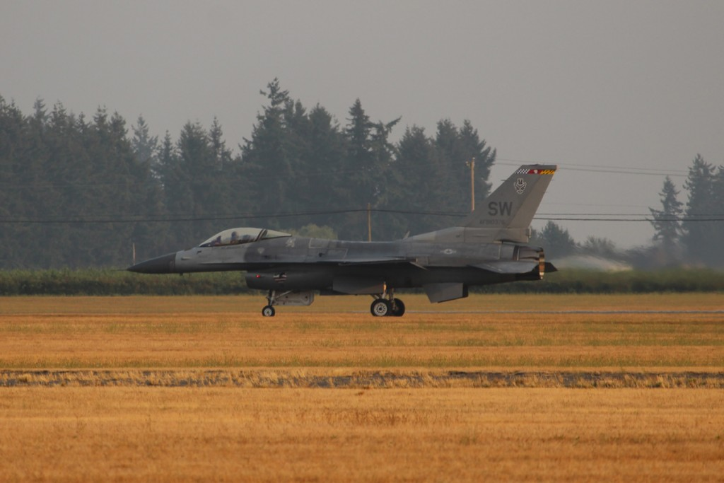 The FA-18 Super Hornet prepares for takeoff